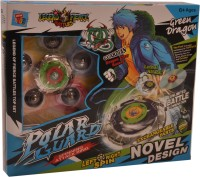 Mera Toy Shop Spinning Attack Rings-Green Dragon (Multicolor)