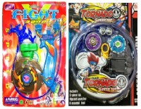 New Pinch Combo Of Tornado Metal Fusion 2pcs. Set With Sharp Metal Edge Beyblade Toy (Multicolor)