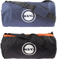 KVG KFGB16 Black & Orange Gym Bag (Black, Blue, Orange, Dry Bag)