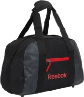 Reebok Plain Gym Bag Black, Red, Kit Bag