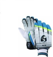 SG Elite Batting Gloves (M, White, Blue)