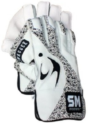 SM Swagger Wicket Keeping Gloves (Men, White, Black)