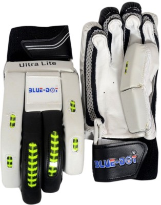 Blue Dot Ultralite Batting Gloves (L, White, Black)