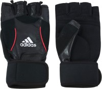 Adidas Training Gym & Fitness Gloves (L, Black, Red)
