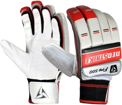 Neo Strike PRO500(B) Batting Gloves (Boys, White, Red)