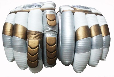 VSP LE Batting Gloves (Youth, White, Gold)