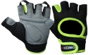 Kobo Training Gym & Fitness Gloves - M, Black, Green