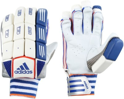 Adidas BG CLUB V1 16 Batting Gloves (M, White, Blue, Red)