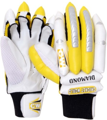CW Diamond Batting Gloves (Men, Yellow, White, Black)