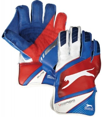 Slazenger Elite Wicket Keeping Gloves (L, White)