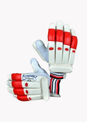 Turbo CENTURY Batting Gloves (Men, White, Red)