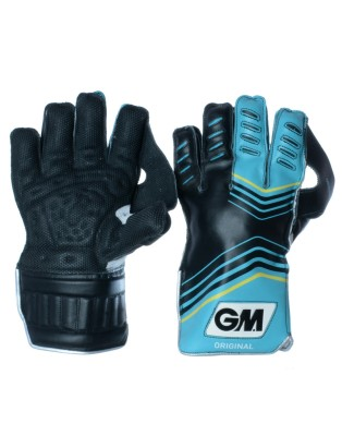GM Original Wicket Keeping Gloves (Men, Black, Blue)