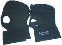 CP BIGBASKET Sweat Leather Full Black Backless Gym & Fitness Gloves (Free Size, Black)