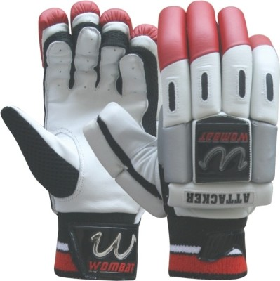 Wombat Attacker Batting Gloves (L, Red, Black)