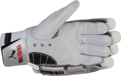 Puma EVO POWER 500 Batting Gloves (Men, White, Black)