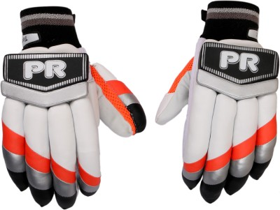 PR ARGBG13 Batting Gloves (M, White, Orange, Black)