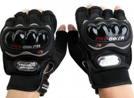 Pro Biker Half Cut Gloves Driving Gloves (XXL, Black)