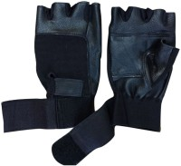 Apg Leather Gym & Fitness Gloves (Men, Black)