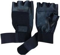 Apg Leather Gym & Fitness Gloves (Men, Black)
