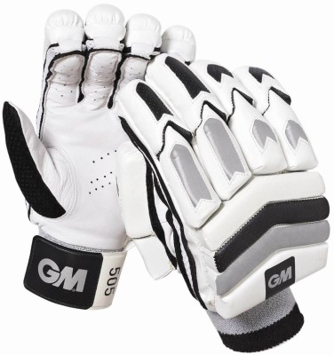 GM 505 Batting Gloves (Men, White, Black)
