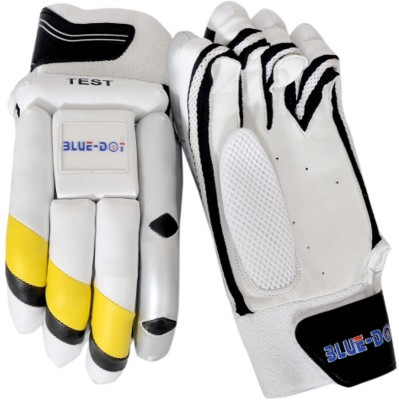 Blue Dot Test Batting Gloves (L, White, Yellow, Black)