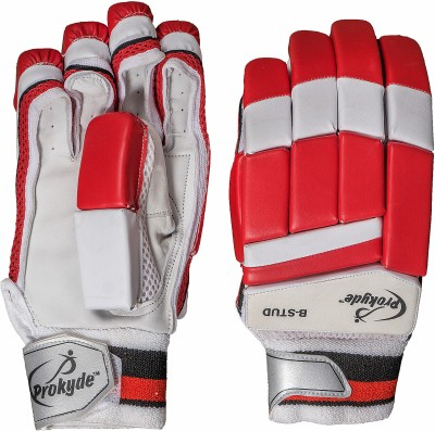 Prokyde B-Stud Batting Gloves (Men, Red, White)