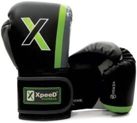 Xpeed Kick Boxing Gloves (Free Size, Black, Green)