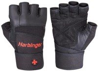 Harbinger Fitness Pro Wrist Wrap Gym & Fitness Gloves (L, Black)