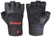 Harbinger Fitness Pro Wrist Wrap Gym & Fitness Gloves (L, Black)