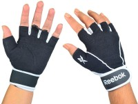 Reebok Training Gym & Fitness Gloves (L, Black, White)