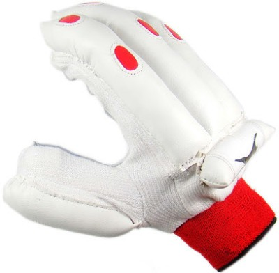 Slazenger Academy Mens Batting Gloves (L, White, Red)