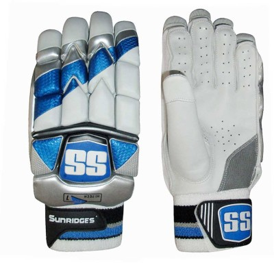 SS Hi Tech Pro Batting Gloves (Men, White, Blue)