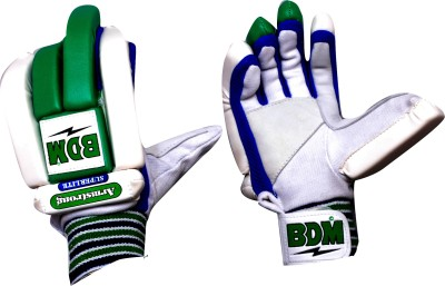 BDM Armstrong Super Lite Batting Gloves (Men, Green, White)