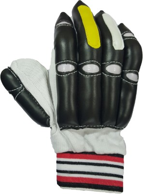 Tennex T-111 Black Batting Gloves (Free Size, Black, White, Red)