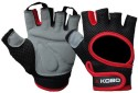 Kobo Training Gym & Fitness Gloves - L, Black, Red