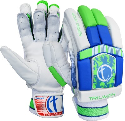 Triumph 505 Batting Gloves (Men, White, Green, Blue)