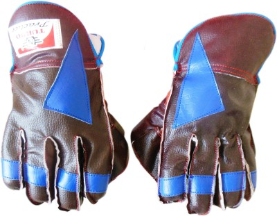 Turbo PRACTICE (Half Samber) Wicket Keeping Gloves (Youth, Brown, Black)