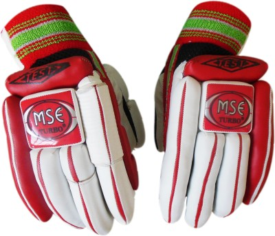 Turbo MSE TEST LITE Batting Gloves (Men, White, Red)