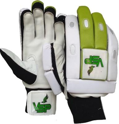 VSP Brio Batting Gloves (Boys, White, Green)