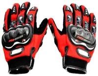 Motoway Pro Bike Full Racing Biking Driving Motorcycle 04 Riding Gloves (XL, Red)