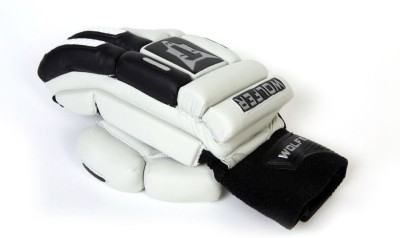 Wolfer Feather Weight (Left Hand) Batting Gloves (Men, Black, White)