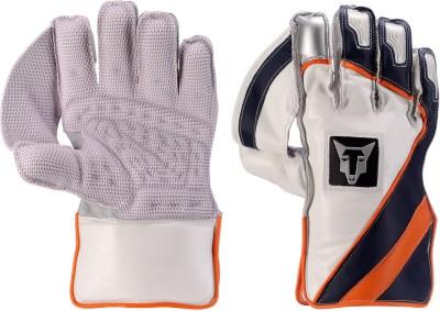 Wolfer BW Color Flash Wicket Keeping Gloves (Men, Orange, Blue, White)
