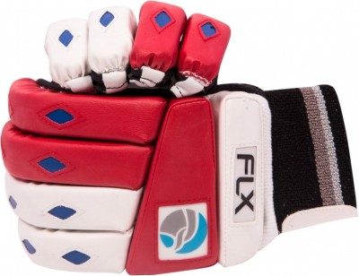 FLX Cestus Classic Batting Gloves (Men, White, Red)