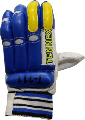 Tennex T-111 Batting Gloves (Free Size, Blue, White)