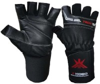 Kobo WTG-01BLK Weight Training Gym & Fitness Gloves (S, Black)