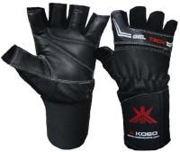Kobo WTG-01BLK Weight Training Gym & Fitness Gloves (S, Black)