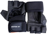 Vector X VX 500 Gym & Fitness Gloves (M, Black)