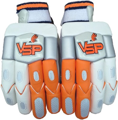 VSP Victor Batting Gloves (Men, White, Orange)