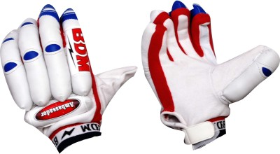 BDM Ambassador Batting Gloves (Men, Red, White)