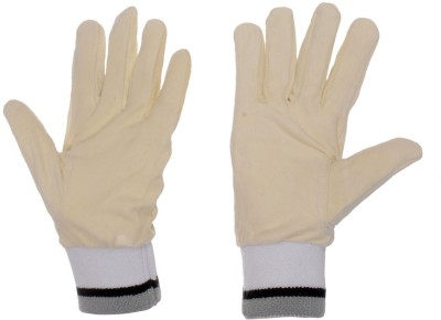 GM Full Chamios Leather Inner Gloves (Men, White, Grey)